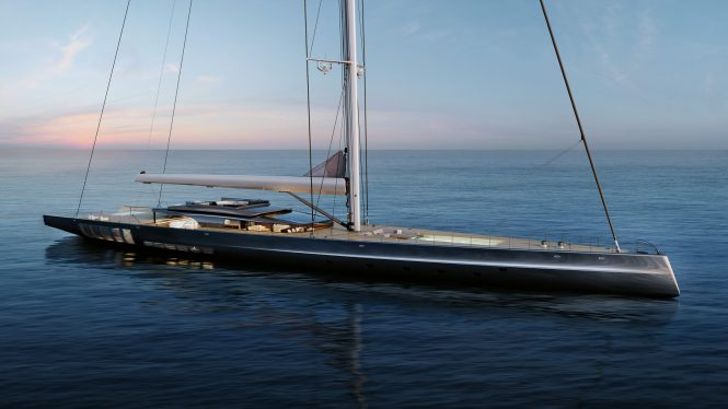 MM725 Sailing Yacht Concept Rendering © Malcolm McKeon Yacht Design