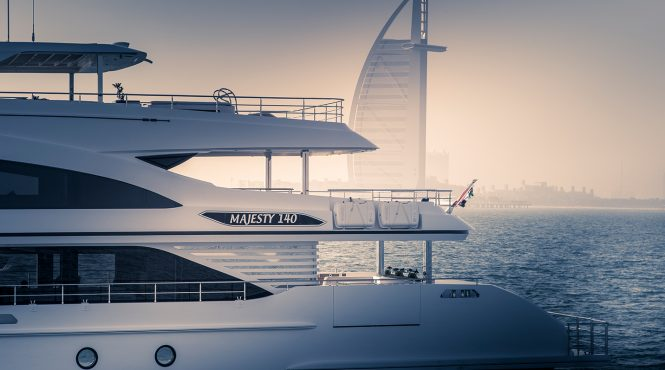 Majesty 140 yacht in Dubai