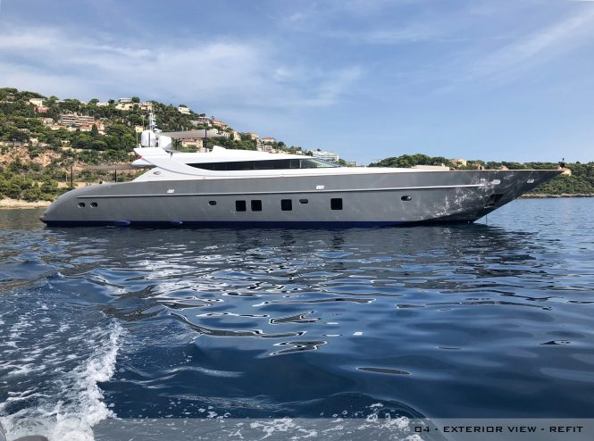 Motor Yacht A2 Exterior view after the refit