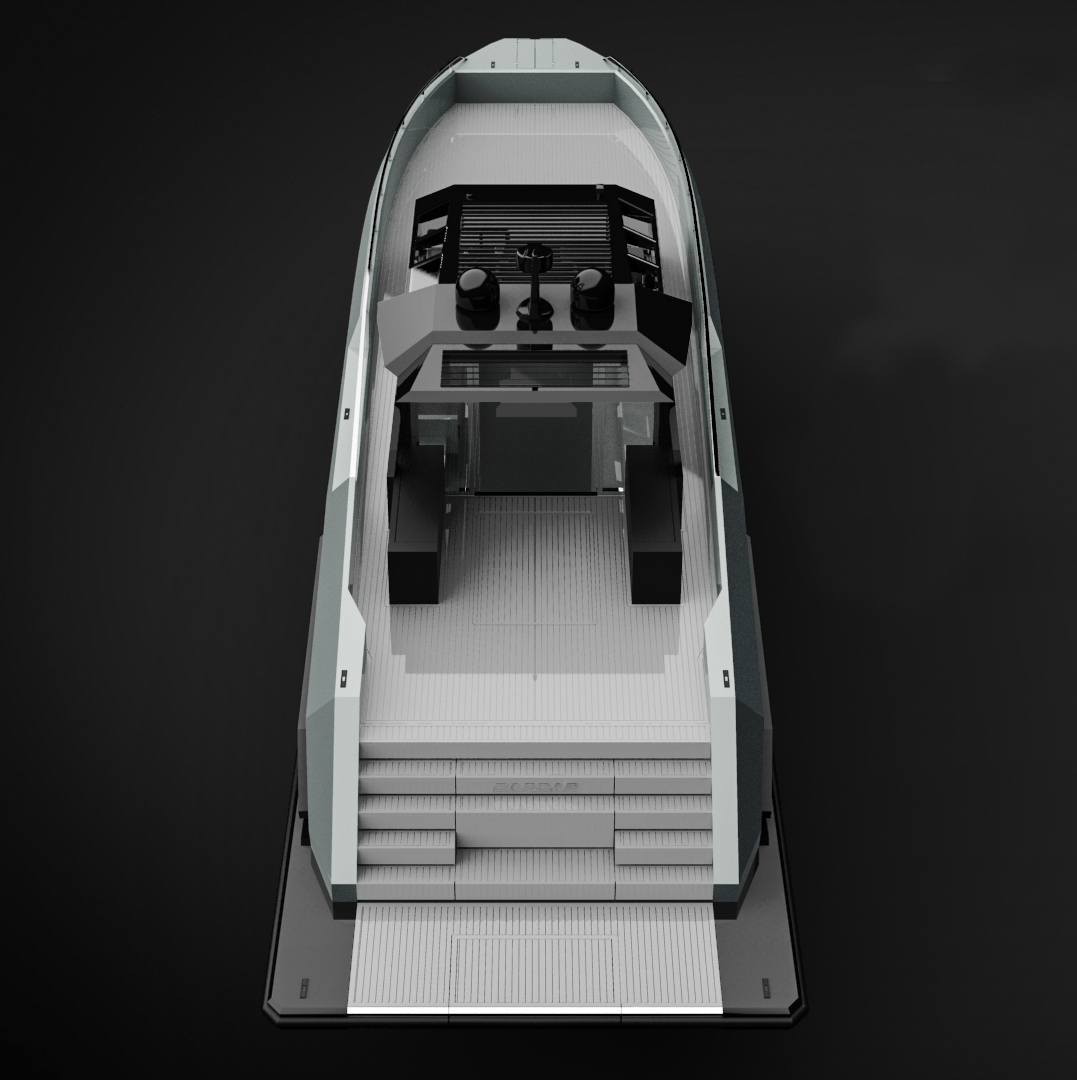 Motor yacht MAZU 82 - rendering - © Mazu Yachts