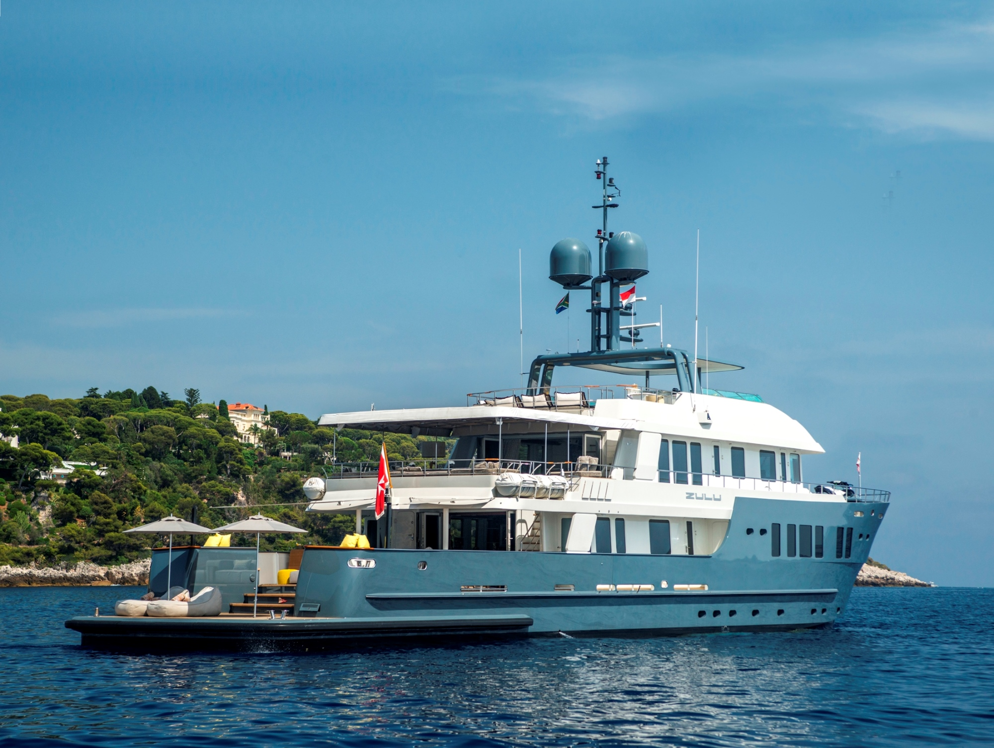Motor yacht ZULU offering crewed charter vacations
