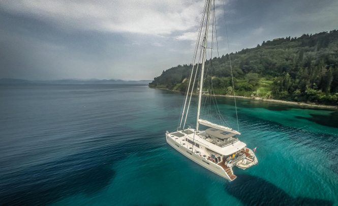 OCEAN VIEW catamaran available for crewed luxury charters in the South Pacific