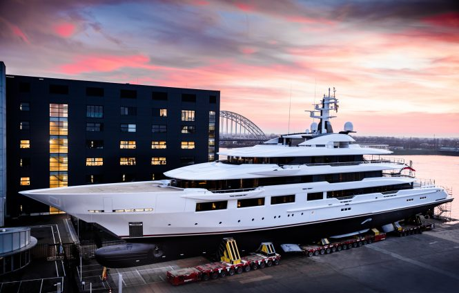 Photo © Guillaume Plisson - 90m DreAMBoat launched by Oceanco