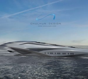 Superyacht Valkyrie - The 229m/751ft luxury giga yacht concept from science fiction to the sea