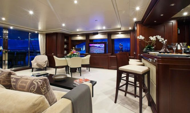 Pure Bliss offers great spaces for socialising and areas to relax on board