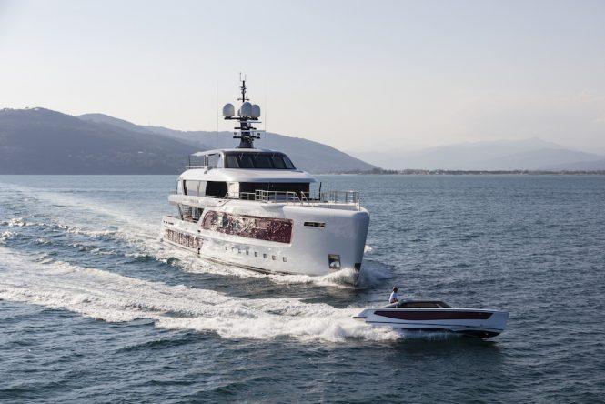 QUINTA ESSENTIA superyacht with tender