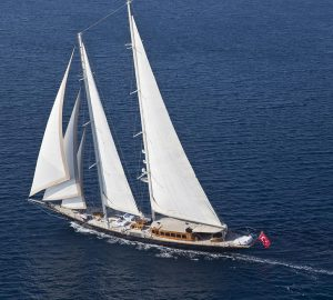 56m 'James Bond star' sailing yacht REGINA renamed ARIA I and available for Med charters