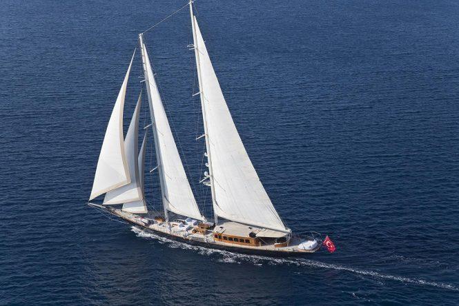 Sailing yacht ARIA I cruising