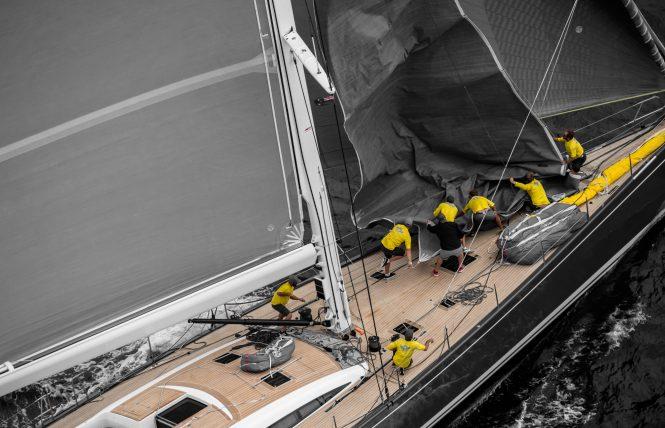 Sailing yacht Freya underway