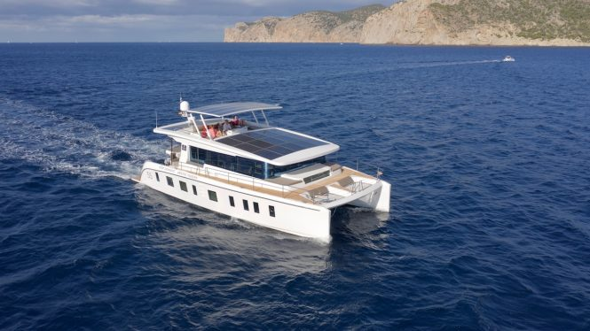 Silent 55 luxury catamaran yacht