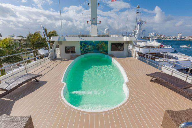 Swimming pool on board