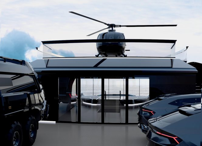 With helicopter - Image © Oceanco