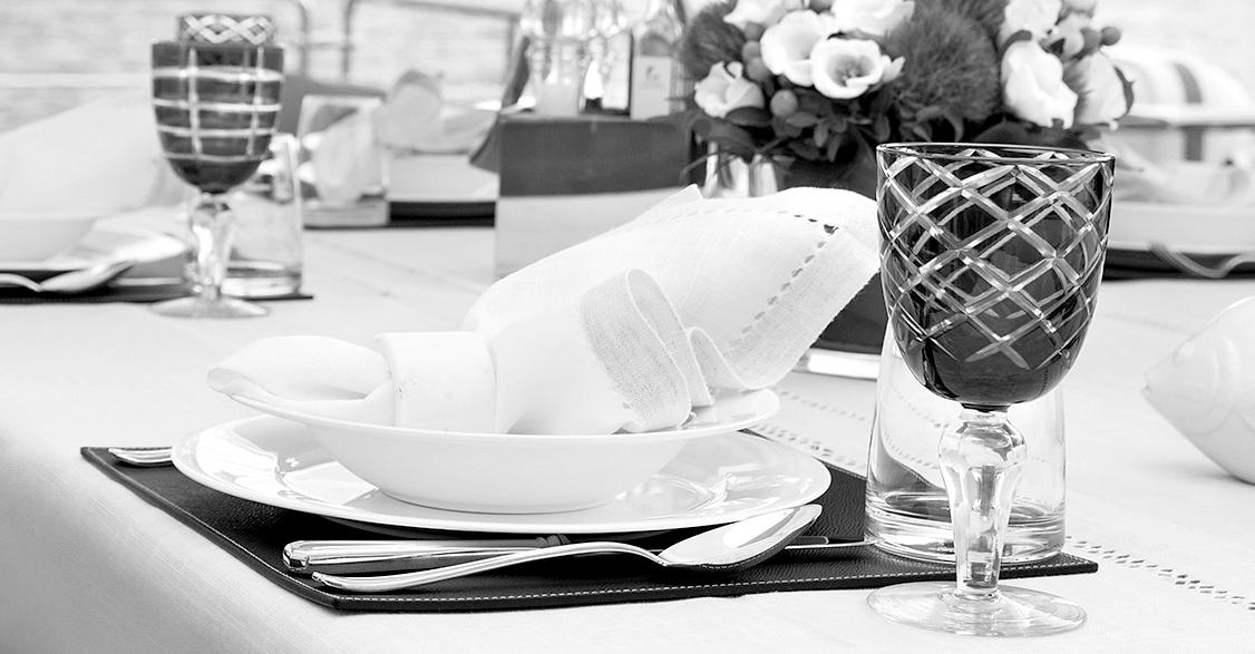 Dining set up detail