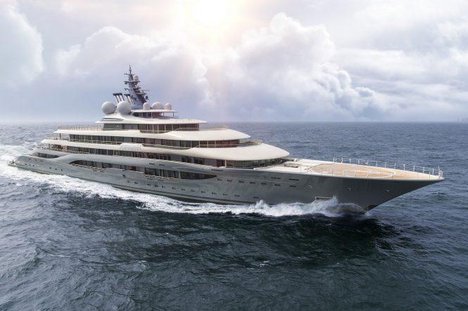 136m motor yacht FLYING FOX by Lurssen, designed by Espen Oeino with interior design by Mark Berryman