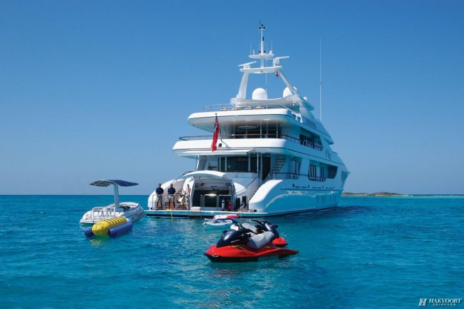 AMICA MEA superyacht with great selection of water toys