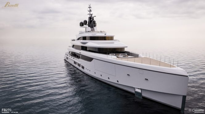 BENETTI project VOGUE currently under cosntruction at the shipyard