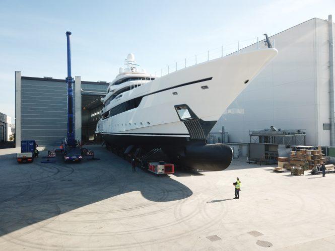 DRAGON at Palumbo Shipyards in Ancona - Photo © Columbus Yachts