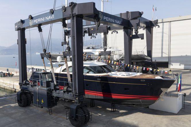 ECO TENDER motor yacht at launch - Photo © Perini Navi