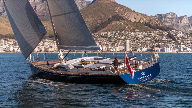 FARFALLA under sail