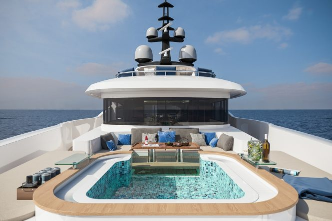 Fantastic Jacuzzi pool for relaxing charter vacations