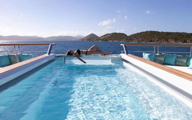 Fantastic pool adding to the relaxing feel on board