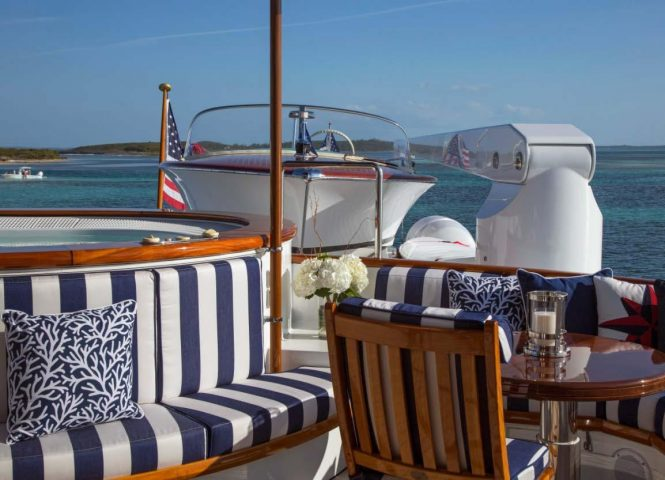 Jacuzzi aboard superyacht in the Bahamas