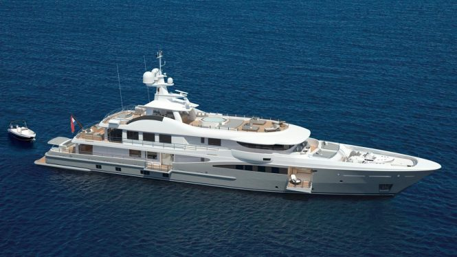 Luxury motor yacht PAPA rendering