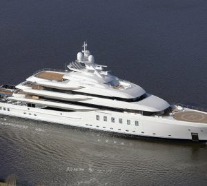 95m superyacht MADSUMMER hits water at Lurssen