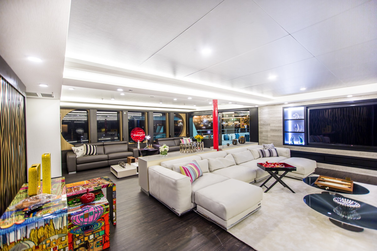 Modern and fun design throughout the entire yacht