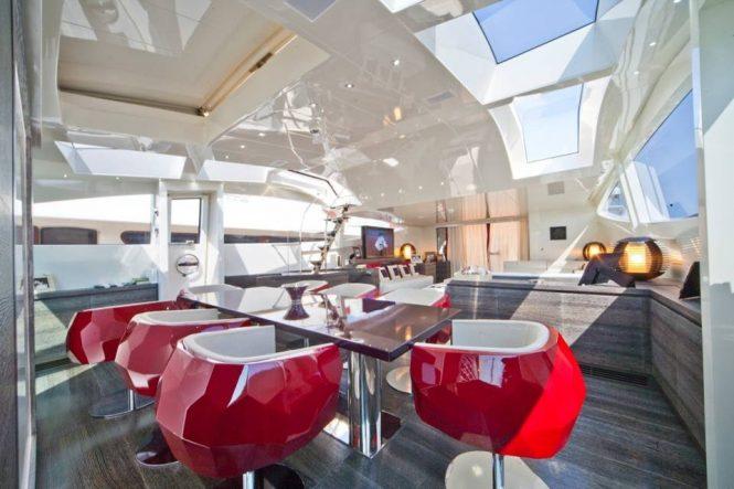 Modern interior design of the dining area