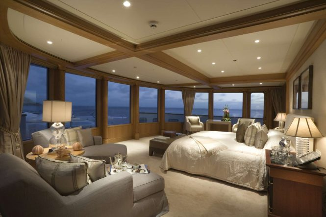 Owner stateroom with amazing views and a Jacuzzi in front