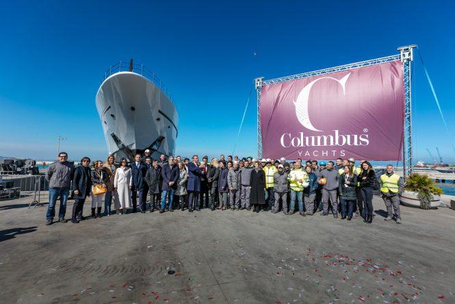 Palumbo Shipyard celebrates launch of DRAGON Sport Hybrid 40