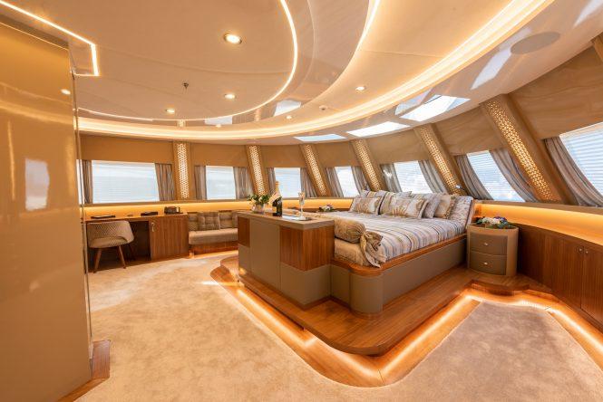 Spacious master suite offering amazing views