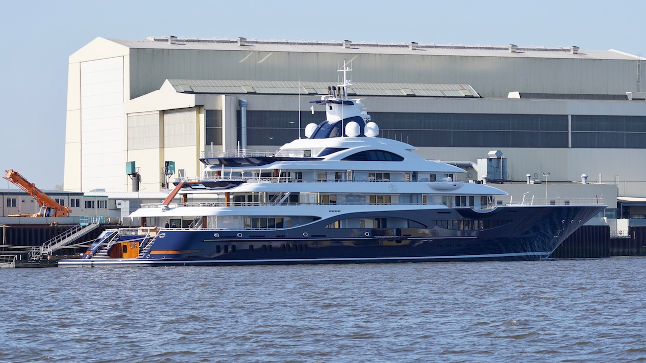 111m Mega Yacht TIS getting ready for delivery - Photo © DrDuu