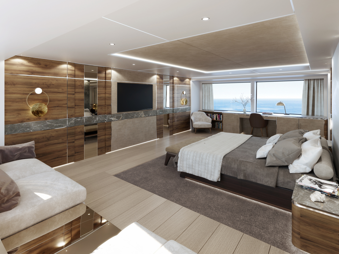 52m Rosetti superyacht cabin
