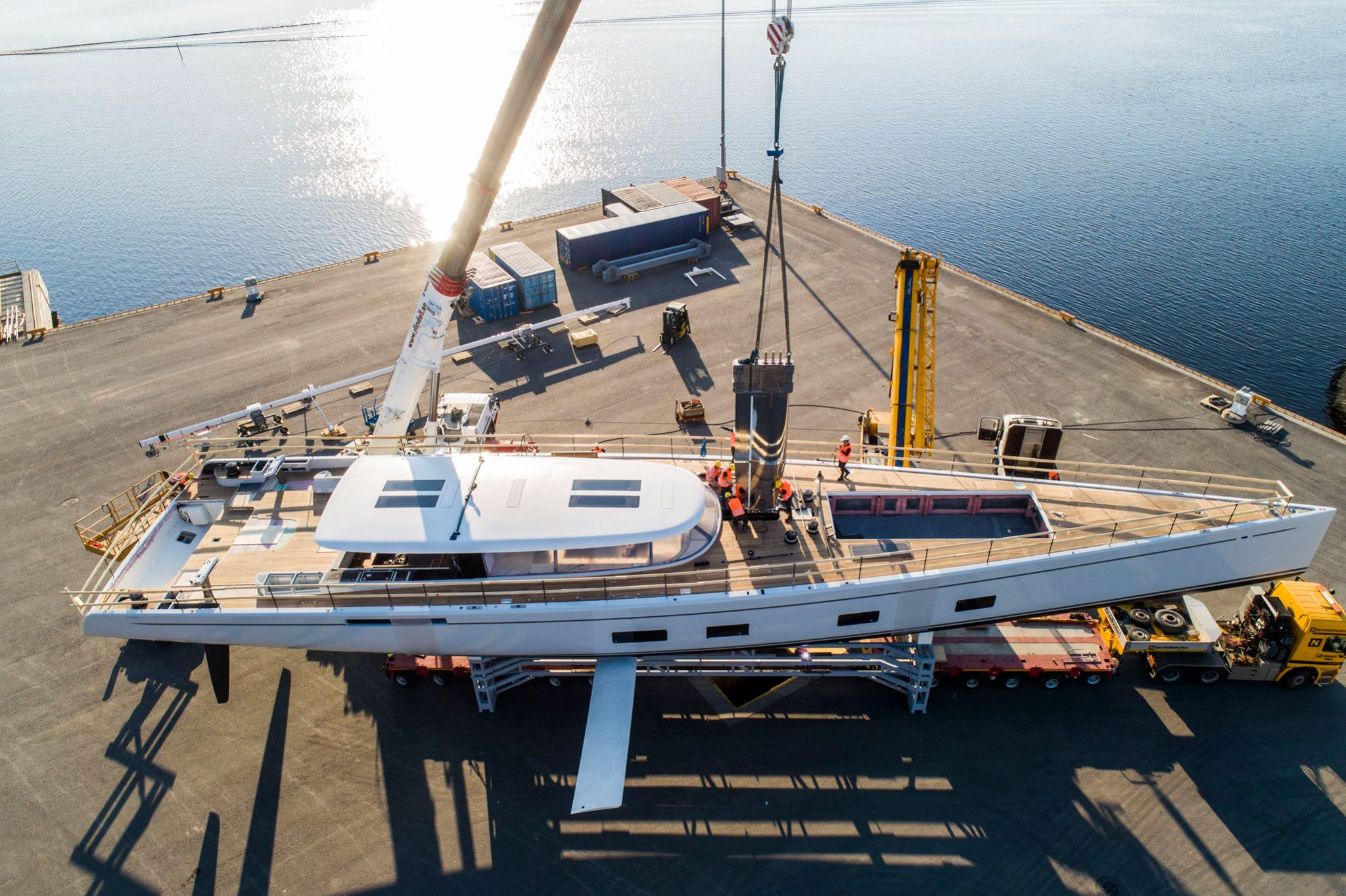 Baltic 142 Canova superyacht getting ready for launch - Photo © Baltic Yachts