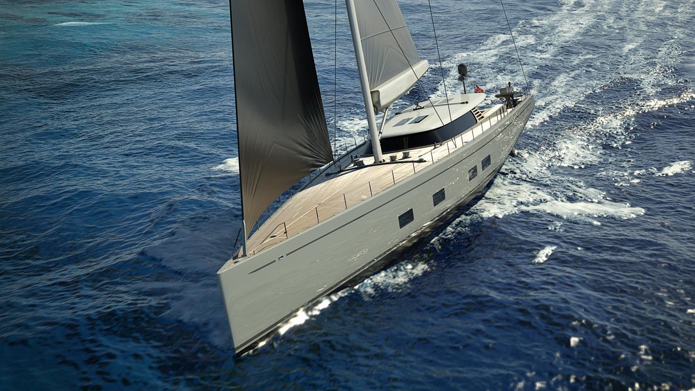 Baltic 142 Custom superyacht CANOVA - rendering
