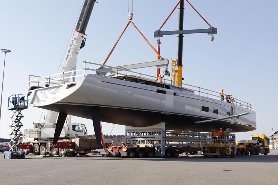 Canova superyacht getting ready for launch - Photo © Baltic Yachts