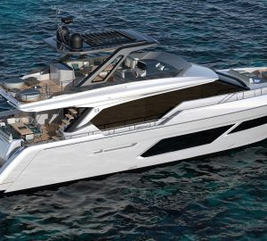 The first Ferretti Yachts 720 luxury yacht prepares for summer debut