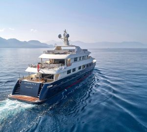 40m superyacht SERENITY offering charter discount in the Eastern Mediterranean
