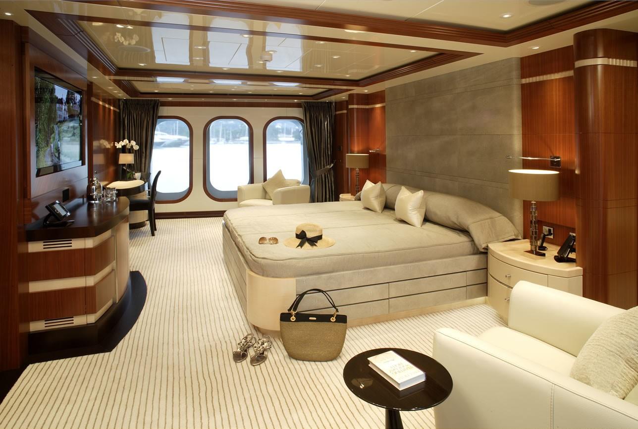 Master suite offering luxury amenities