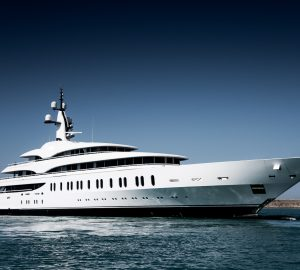 First exterior images of brand-new mega yacht Benetti FB275