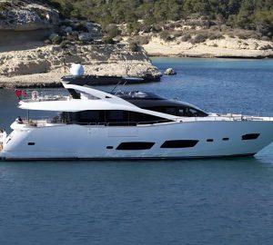 28m Sunseeker Yacht RAY III offering 20% charter discount in June