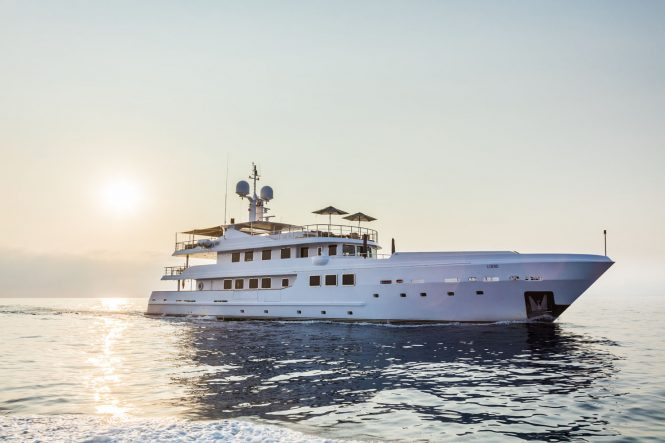 R23 superyacht available in the Western Mediterranean