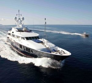 55m RARE FIND offering yacht charter rate reduction in the East Med