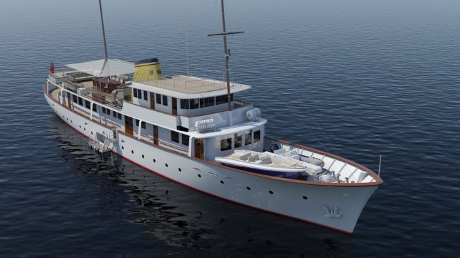 Rendering of new Istros - Copyright Feadship