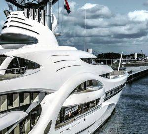 Russian Billionaire's 110m superyacht ANNA in Amsterdam