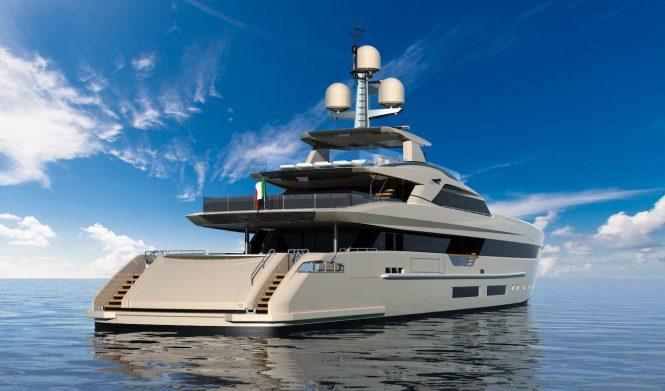 Superyacht ELETTRA rendering