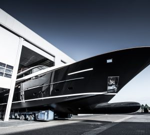 32m Raised Pilot House motor yacht Jangada 2 launched at Van Der valk