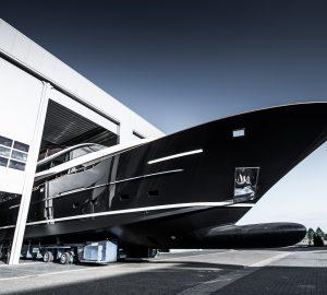 32m Raised Pilot House motor yacht Jangada 2 launched at Van Der valk
